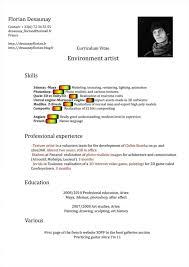 Florian Desaunay 3d Artist Resume