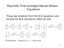 navier stokes equation derivation jennarocca reynolds time averaged navier stokes equations fundamental equations concepts and implementation ppt