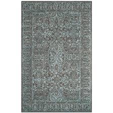 safavieh glamour blue dark gray 8 ft x 10 ft area rug