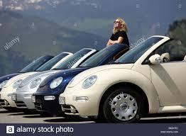 Car, VW Volkswagen New Beetle Convertible, model year 2003-, open ...