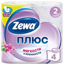 <b>Туалетная бумага Zewa Плюс</b> Сирень двухслойная — купить по ...