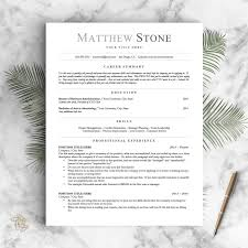 Best Etsy Resume Templates For Sale 10 And Under Apartment Therapy