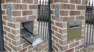 Brick Mailbox Designs Our New Brick Parcel Letterbox For Home Parcel Delivery