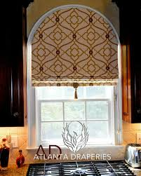 Arched window with pattern placement More