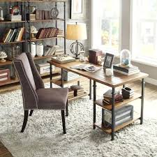 tribecca furniture brown industrial storage desk computer writing wood shelves home office table tribeca bedroom furniture