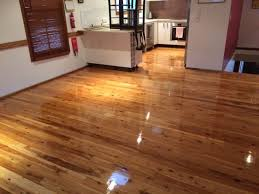 polished cypress pine timber floor
