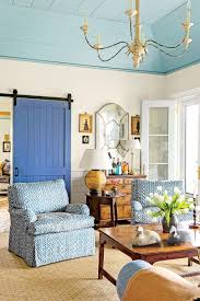 idea home furniture. Living Room With Blue Barn Door Idea Home Furniture
