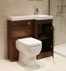 Toilet vanity combo for small bath. Mirror cabinet is also good.