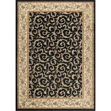 ivory gold and black area rug elegance grey prestige