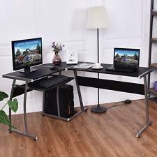 corner office table. Corner Desk L-Shaped Office Wood Large PC Game Table Workstation Home Furniture