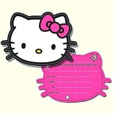 Printable Hello Kitty Invitations Personalized Hello Kitty Invitation Template Hello Kitty Template Hello