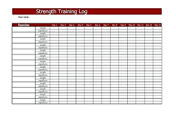 Weight Lifting Templates Weight Lifting Workout Chart Template Info Training Fitness