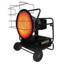 master kerosene heater master 125 000 btu radiant kerosene heater mh 125 ofr new