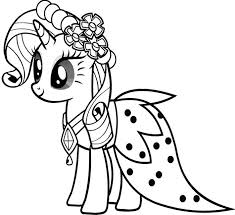Small Picture My Little Pony Rarity Wear Dresses My Little Pony Coloring Pages