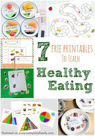 7 Free Printables to Teach Healthy Eating | Sunny Day Family