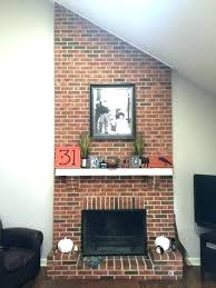refinish brick fireplace refinish brick fireplace refacing brick fireplace with glass tile refinish brick fireplace