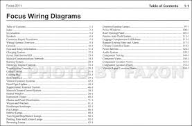 2011FordFocusOWD TOC 2011 ford focus wiring diagram manual original on 2011 ford focus wiring diagram