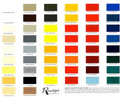 Color Chart Randolph Color Chart