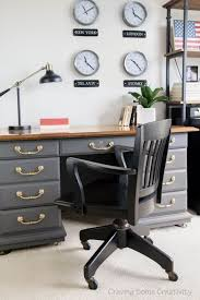 home office world. Masculine Home Office With Patriotic Decor. World Wall Clocks, Antique Desk In Telegram Gray I