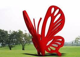 contemporary art stainless steel garden