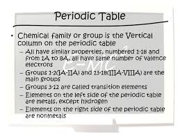 Objective 4.03 Objective 4.03: Explain how the Periodic Table is a ...