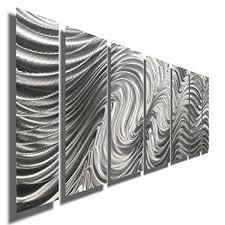 silver contemporary metal wall art sculpture multi panel metal decor by jon allen hypnotic on black metal wall art amazon with amazon silver contemporary metal wall art sculpture multi