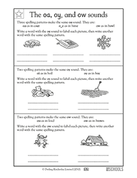 5 worksheets on oi and oy which can be used for classwork or homework. Reading Worksheets Word Lists And Activities Page 21 Of 24 Greatschools