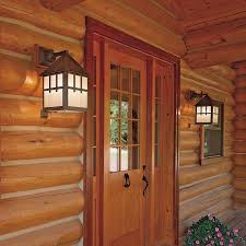 Rustic Home Lighting Rustic Log Home Exterior Lights Lighting