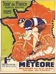 Tour de France 1925 - VINTAGE POSTER BANK - thème Sports- reproduction  numérique d'affiche ancienne