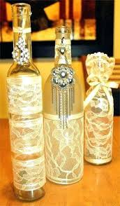 Glass Bottle Decoration Ideas Wine Bottle Centerpiece Ideas Wine Bottles With Lights Inside Home 77