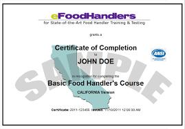 Nice Food Handler Certificate Resume Photo Resume Ideas Namanasa Com