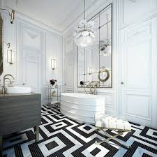 Black And White Tile Floor Bathroom Ideas