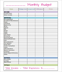 Easy Monthly Budget Template Free 9 Budget In Samples Example Format