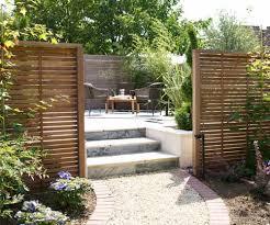 wooden garden screening