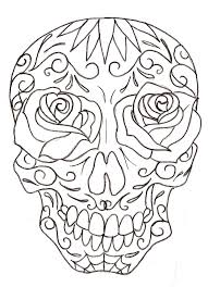 Sugar Skull Coloring Pages Getcoloringpagescom