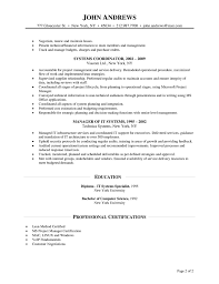 Manager Resume
