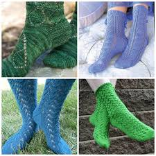 Sock Patterns Enchanting Lace Sock Patterns For Summer Knitting