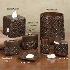 Brown Bathroom Accessories Bathroom Accessories Islandia Bath Accessories By Croscill
