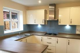 Kitchen Glass Splashback Farrow And Ball Lulworth Blue No89 Kitchen Glass Splashback Cheshire
