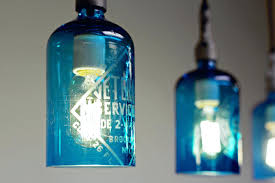 blue glass pendant lighting etched glass seltzer water bottle pendant lights clear or blue clear glass