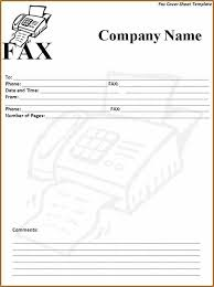 12 Example Of Fax Cover Sheet Template Basic Job Appication Letter
