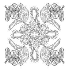 Flower Coloring Pages For Adults Best Coloring Pages For Kids
