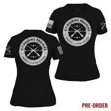 Womens Grunt Style T Shirt Black White