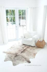 gray cowhide rug light brindle jersey road faux