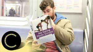 taking fake book covers on the subway