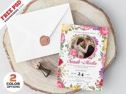 Wedding invitation suites see all designs. Wedding Invitation Card Design Psd Psdfreebies Com