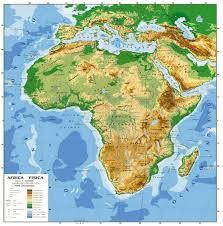 CARTINA CARTA GEOGRIFICA AFRICA BIFACCIALE FISICA POLITICA 100X140CM  PLASTIFICATA: Amazon.it: Cancelleria e prodotti per ufficio