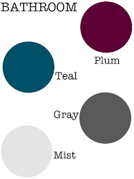 Plum Colors For Bedroom Walls Or Master Bath Use A Dark Tone Of The Bedrooms Accent Color For