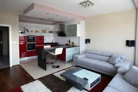 Modern Kitchen Living Room Apartment Living Room And Kitchen Interior Design Wildwoodstacom