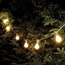 weatherproof festoon lighting 10 white bulb holders
